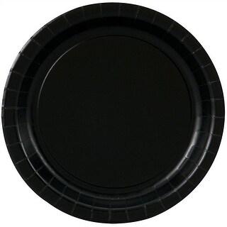 "Black Paper Plates - 8 5/8"""