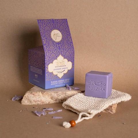 LAVENDER SOAP & NATURAL LOOFA Organic Vegan Handmade Soap Cruelty Free