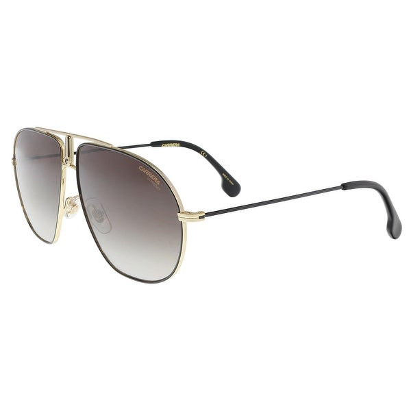580d1297aba Shop Carrera BOUND 02M2-HA Black Gold Aviator Sunglasses - 60-12-145 ...