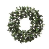 "Celebrations 4723158-CC618AC Prelit LED Decorated Christmas Wreath, 36"", Pure White"
