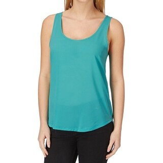 French Connection NEW Caloosa Blue Women Medium M Scoop Neck Tank Top