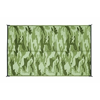 Camco 42825 Reversible Outdoor Mat (9' x 12', Camouflage) - Camouflage