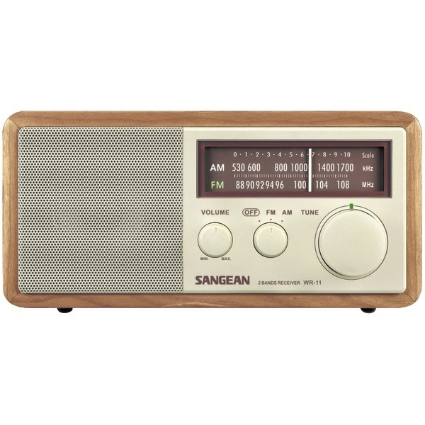 Sangean Wr11 Wood Cabinet Am/Fm Tabletop Radio