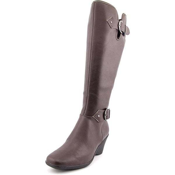 Aerosoles Wonderful Women W Round Toe Synthetic Brown Knee High Boot