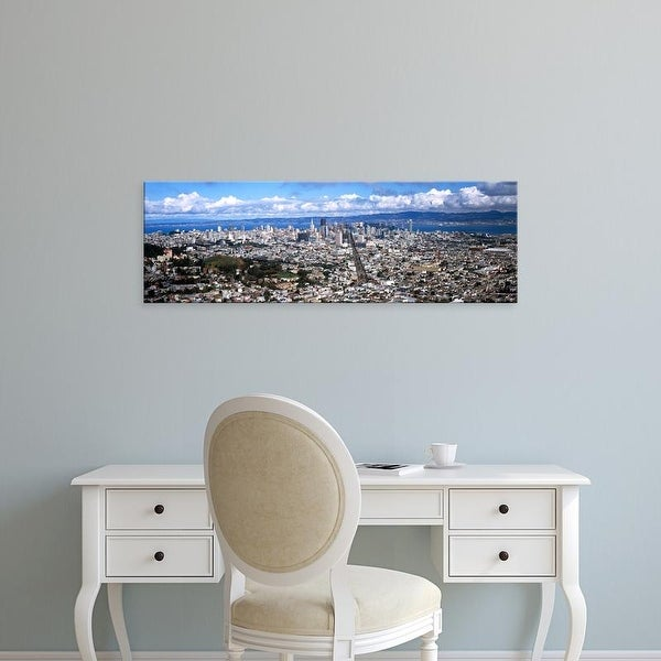 Easy Art Prints Panoramic Image 'Cityscape viewed from the Twin Peaks, San Francisco, California, USA' Canvas Art