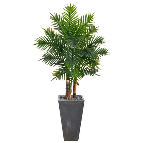 """63"""" Areca Artificial Palm Tree in Cement Planter (Real Touch) - 21"""""""
