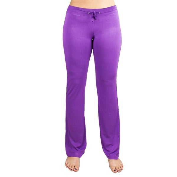 Shop Medium Purple Relaxed Fit Yoga Pants
