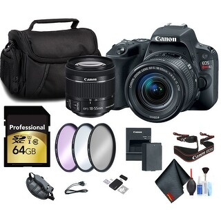 Canon EOS Rebel SL2 DSLR Camera with 18-55mm Lens Starters Package