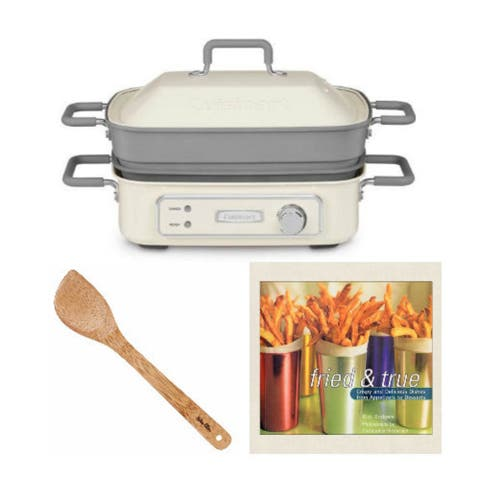 """Cuisinart STACK5 Multi-Functional Grill with 15"""" Spatula and Cookbook"""