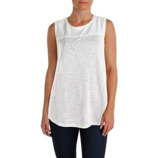Sanctuary Womens Casual Top Sleeveless Sheer