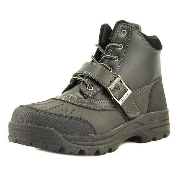Mountain Gear Legend Men Round Toe Leather Black Boot