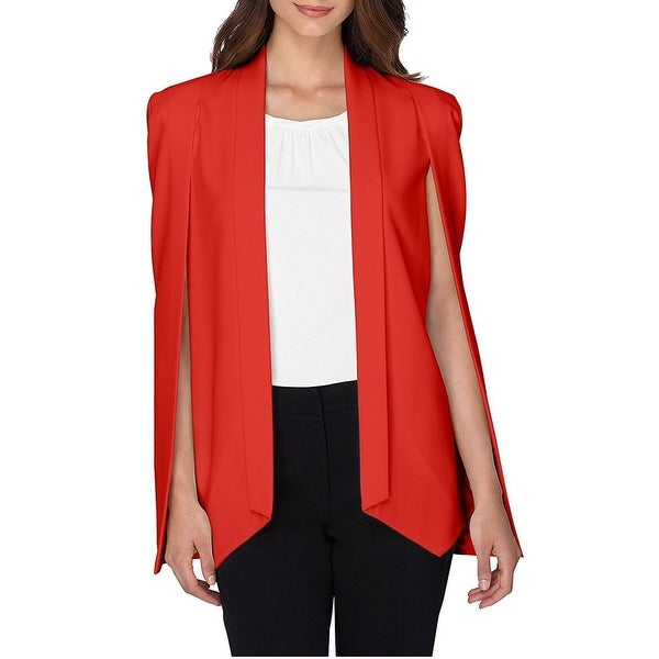 81dadd224d9 Shop Tahari ASL Open Front Cape Blazer Jacket - 18 - Free Shipping Today -  Overstock - 18827939