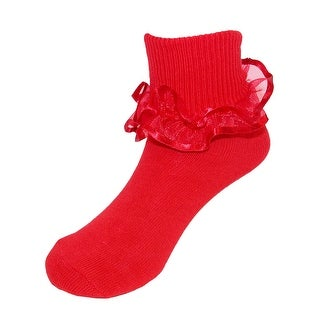 Jefferies Socks Girl's Frilly Lace Ruffle Tutu Anklet Socks