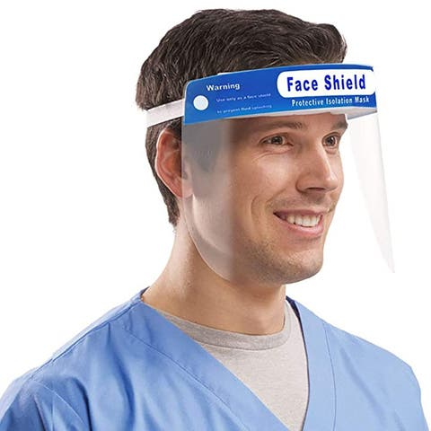 1/2/4 Pcs Face Shield Hats Safety Flip-up Reusable Protection Clear Viewing Anti-Fog Adjustable Elastic Headband (Not Mask)