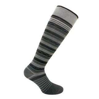 Travelsox Womens Compression Socks TS1167 Stripe Ladies Silver Drystat Dress, Travel, Play