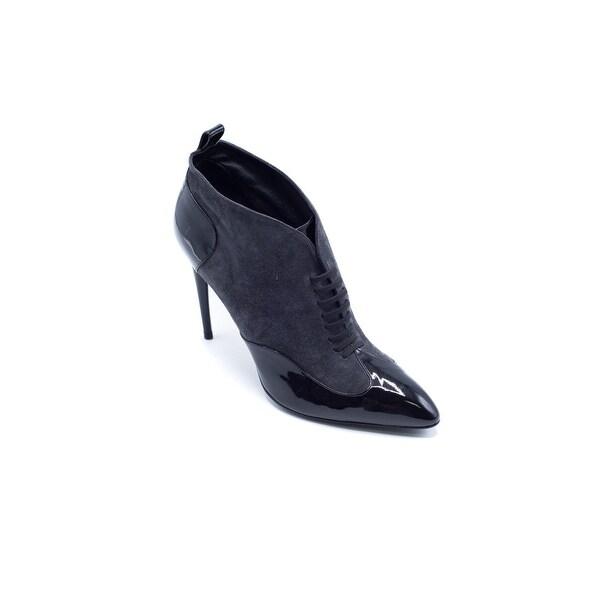 f4778e81 Shop Roger Vivier Womens Black suede Patent Leather Ankle Bootie ...
