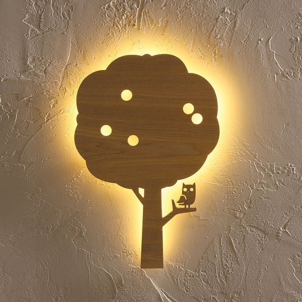 Shop owl in apple tree wall accent lamp led lights laser cut mdf owl in apple tree wall accent lamp led lights laser cut mdf wood aloadofball Image collections