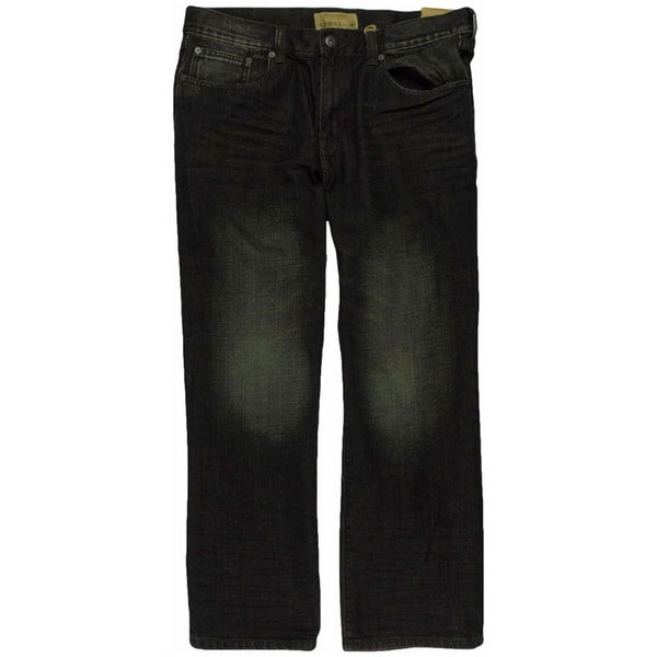 Ecko Unltd. Mens Brief Encounter Washed Denim Relaxed Jeans. Opens flyout.