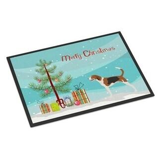Carolines Treasures BB8433JMAT American Foxhound Christmas Indoor or Outdoor Mat - 24 x 36 in.