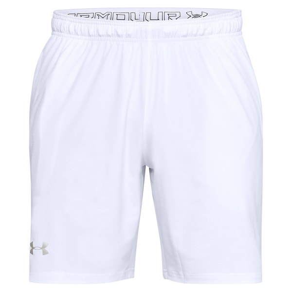 9113176f Under Armour White Mens Size Large L Heat Gear Athletic Shorts