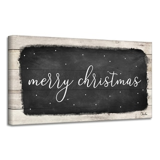 Link to Ready2HangArt 'Merry Christmas I' Holiday Canvas Wall Art by Olivia Rose Similar Items in Christmas Decorations