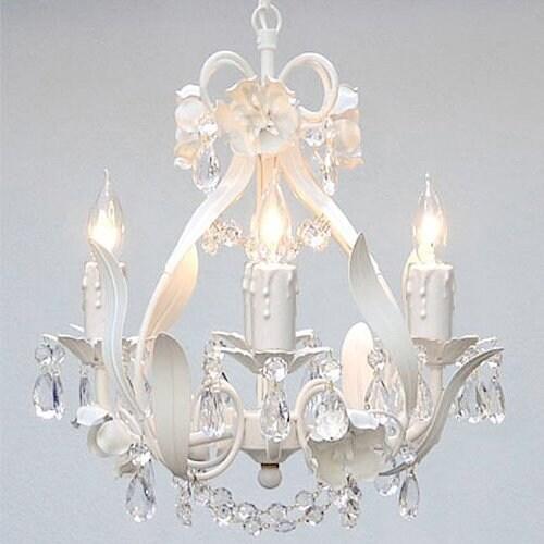Swarovski Elements Crystal Trimmed Chandelier Lighting Wrought Iron Floral Chandelier Lighting Crystal