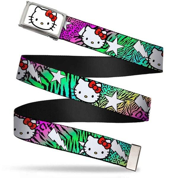 Hello Kitty Face Fcg White Chrome Frame Hello Kitty W Lightning & Web Belt