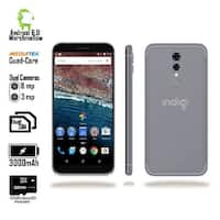 "Indigi 2018 GSM Unlocked 4G LTE Android 6.0 Marshmallow 5.6"" SmartPhone [Quad-CORE @ 1.2GHz + 2SIM] Black + 32gb microSD"