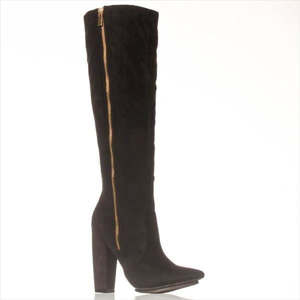 NOTFOUND Womens JILAYNE Pointed Toe Knee High Fashion Boots