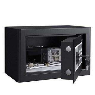 LANGRIA Steel Security Safe Box with Digital Keypad (0.5 Cubic Feet, Black Gray)