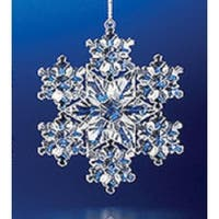 Decorative Crystal Looking Christmas Snowflake Ornament 3""