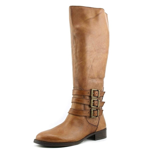 INC International Concepts Womens Francy Leather Almond Toe Knee High Fashion...