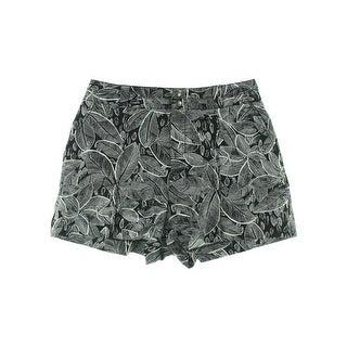 Rachel Rachel Roy Womens LA Story Linen Blend Printed Casual Shorts - 6