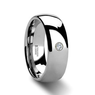 BERKSHIRE Domed Diamond Tungsten Ring