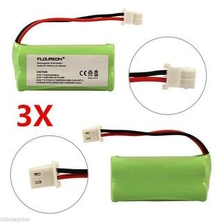 3 Home Phone Battery 800mAh Ni-MH for VTech BT166342 BT266342 BT183342 BT283342 - fruit green