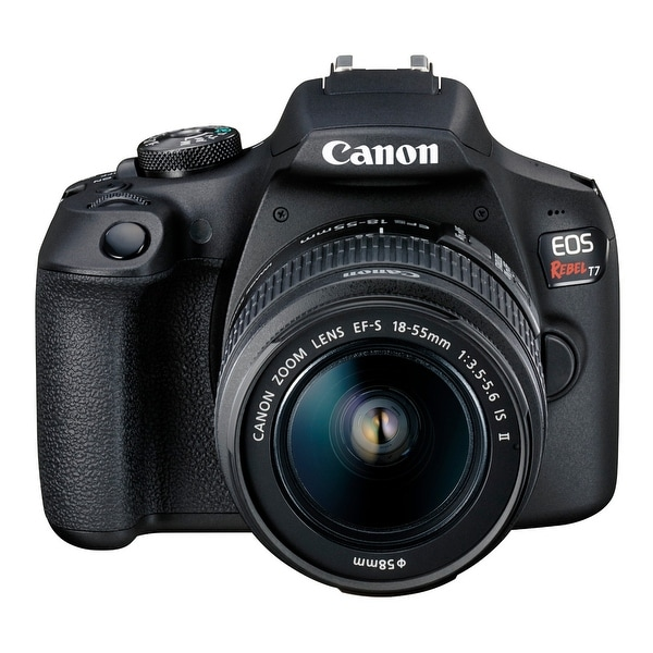 Canon EOS Rebel T7 DSLR Camera and EF-S 18-55mm IS II Lens Kit. Opens flyout.