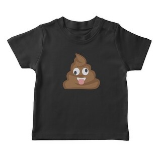Funny Crazy Poop Emoji Girl's T-shirt (More options available)