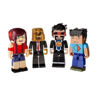 """Tube Heroes Deluxe 3"""" Action Figure 4-Pack - multi"""