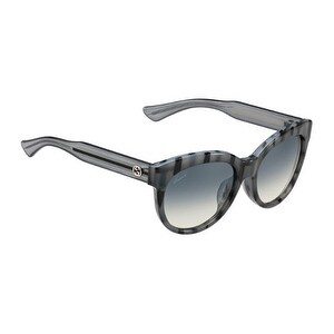 Gucci GG3757 Asian Fit Sunglasses in Striped Gray - Grey