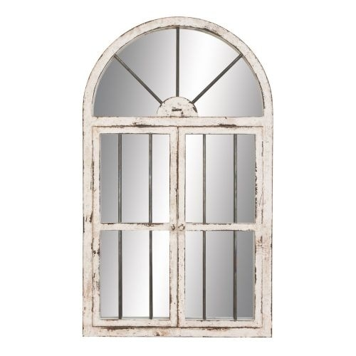 """Aspire Home Accents 74397 42"""" Arched Window Wall Mirror"""