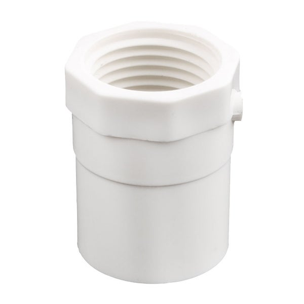 Garden PVC-U Straight Type Water Pipe Tube Connector Adapter Fitting White