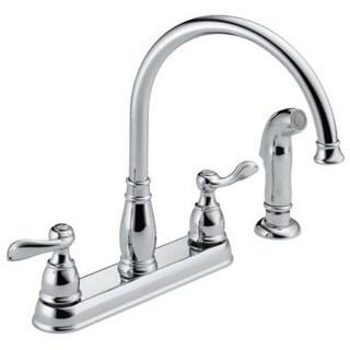 Delta 21996LF Two Handle Kitchen Faucet, Chrome
