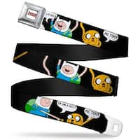 Adventure Time Logo White Full Color Finn & Jake I'M On A Belt Me Too Seatbelt Belt