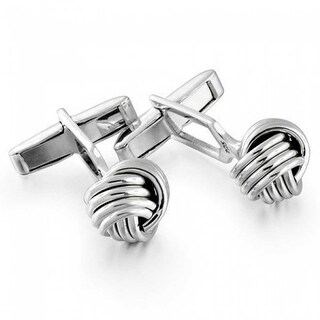 Bling Jewelry Mens Sterling Silver French Love Knot Hinged Back Cufflinks