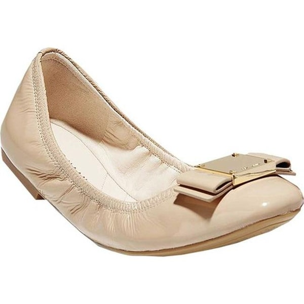ec715d9c0b1c Cole Haan Women  x27 s Tali Modern Bow Ballet Flat Nude Patent Leather