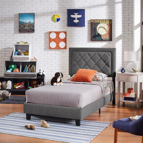 Dartington Velvet Fabric Platform Bed by iNSPIRE Q Modern