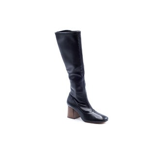 Womens Ballerina Napa Stretch Black Knee Boots