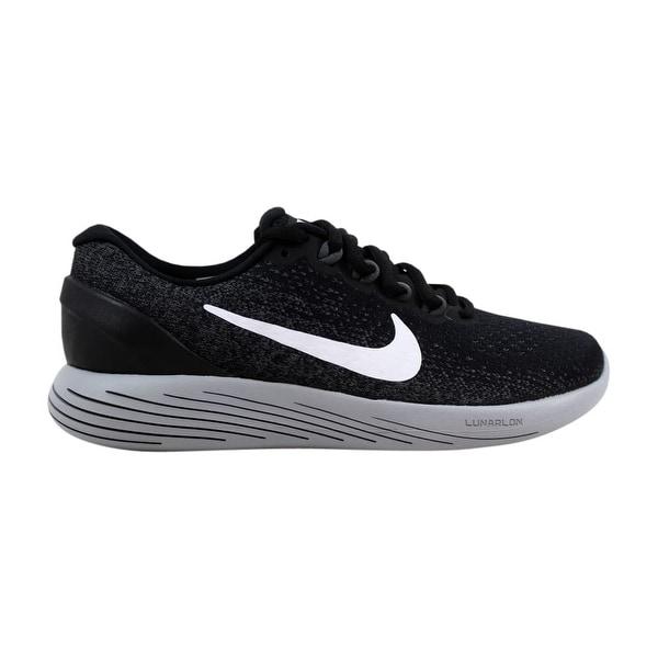 4c8300c8eaf3d Shop Nike Lunarglide 9 Black White-Dark Grey 904716-001 Women s ...