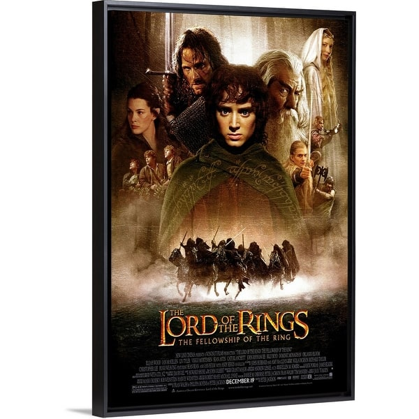 Shop Lord Of The Rings The Fellowship Of The Ring 2001 Black Float Frame Canvas Art Overstock 25529486