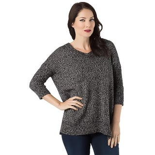 RD Style Womens Pullover Sweater Knit V-Neck - M